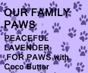 "PEACEFUL LAVENDER ""PAWS"" BAR SOAP"