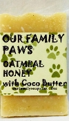 Just for Paws Oatmeal Honey with Coco Butter Bar Soap